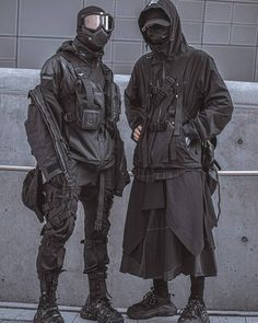 Mode Cyberpunk, Cyberpunk Clothes, Cyberpunk Fashion, Edgy Outfits, Cool Outfits, Fashion Outfits, Baggy Clothes, Style Japonais, Japanese Streetwear