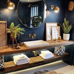 Design Jobs, Design Design, Blog Design, Design Ideas, Bathroom Goals, Bathroom Ideas, Small Bathroom Paint, Bathroom Interior Design, Design Bedroom