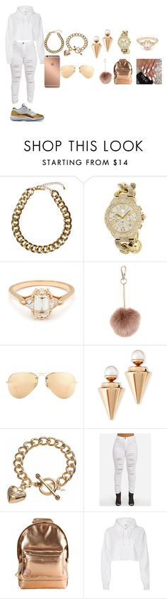 """""""I ALWAYS BE FLY SO TRY NOT TO BE HIGH"""" by keekee-km-1 ❤ liked on Polyvore featuring Club Manhattan, Michael Kors, BEA, Accessorize, Ray-Ban, Mura, Vita Fede, Juicy Couture, Mi-Pac and River Island"""