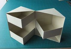 "Secret box tutorial (4 1/2"" high). I think I can use origami folds to make the outside and inside boxes.:"