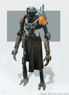 Tyber 2020 by Mack Sztaba Star Wars Droids, Star Wars Rpg, Star Citizen, Star Wars Characters, Fantasy Characters, Edge Of The Empire, Star Wars Concept Art, Battle Droid, Robot Design