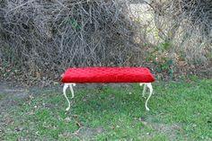 Red Velvet Bench ~ $50 ~ 41 x 18 x 13