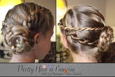 Pretty Hair is Fun: Ladder Braid Pinwheel Updo