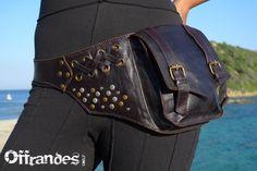 "Leather Utility Belt BaG - "" FaB "" - BROWN - // leather belt with pockets.. $120.00, via Etsy."