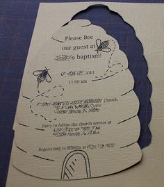 DIY - Beehive Invitation for Bee party