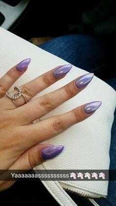 Purple holographic nails!