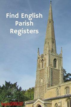 Find English Parish Registers   English Genealogy Research   Family History   Bespoke Genealogy   #genealogy