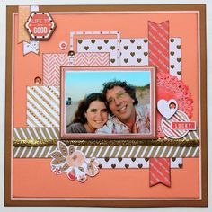 Oct 2014 Teresa Collins You Are My Happy Collection Scrappy Chick Designs: Life Is Good~ #scrapbooklayouts
