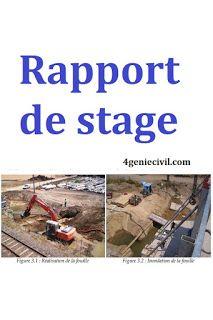 Exemple D Un Rapport De Stage Pdf Btp Et Genie Civil Genies Civilization