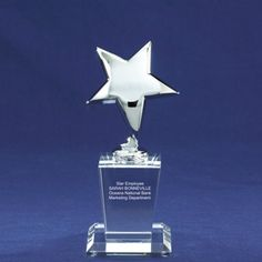Shining Star Trophy - Perfect way to recognize your top employees! #recognition