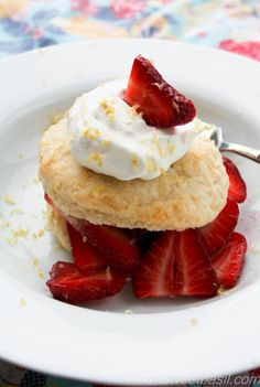 My all time favorite Strawberry shortcake with a hint of lemon!