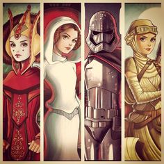 Girls Power Padme,Leia,Captain Phasma and Rey