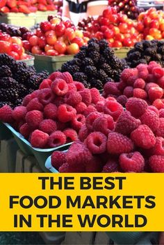Food is a huge part of my trips and visiting local markets when I travel is one of my favorite things to do. I sharedsome of my favorite markets around the world from Pike Place in Seattle, La Boqueria in Barcelona to Queen Victoria Market in Melbourne and more | via /rtwgirl/