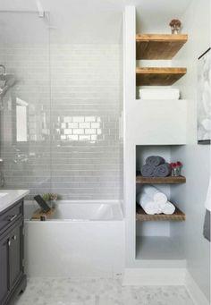 120 elegant and modern bathroom shower tile master bath bloxburg master bathroom master bathroom ideas Small Bathroom With Tub, Small White Bathrooms, White Bathroom Tiles, Bathroom Design Small, Modern Bathroom, Master Bathroom, Bath Design, Bathroom Mirrors, Small Tub