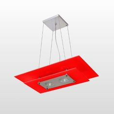 luminária retangular vermelha - Pesquisa Google