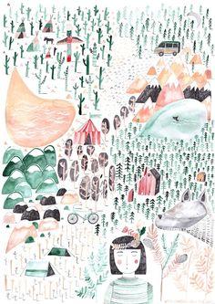 Greta und der Wolf - Poster A2 von Gretas Schwester auf DaWanda.com