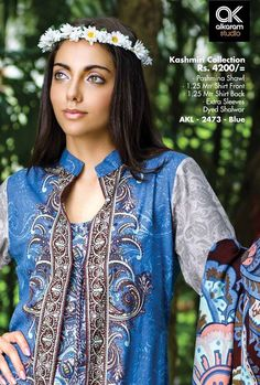 Formal Wear Suits For Girls By Alkaram From 2014 & 2015 Pakistani Street Style, Desi Clothes, Pakistani Designers, Winter Collection, Formal Wear, Dress Brands, Casual Dresses, Saree, Couture
