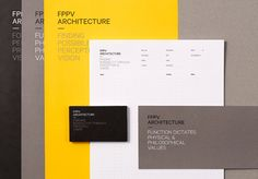 Brand identity for FPPV Architecture designed by Round.