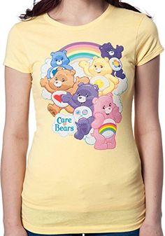Trevco Juniors Rainbow Care Bears Shirt Yellow Small @ niftywarehouse.com #NiftyWarehouse #CareBears #80s #ClassicCartoons #Cartoon #Show #CareBear