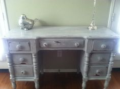 Shabby Chic Desk / Vanity by VintageDoves on Etsy, $256.00