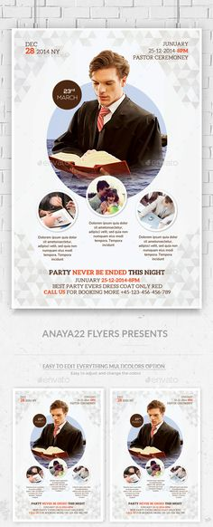 Church Flyer Psd Template by AnAYa22 Church Flyer Psd Template This layout is suitable for any project purpose. Very easy to use and customize. Size : (46) =========