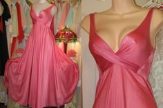 I love this Olga! Pink Nightgown, Vintage Nightgown, Satin Nightie, Bridal Undergarments, Bridal Lingerie, Retro Lingerie, Sexy Lingerie, Cute Pjs, Future Clothes