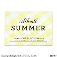 summer picnic bbq invitation summer picnic bbq invitation