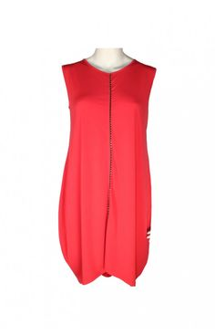 NAYA RED CENTRE ZIP TUNIC DRESS
