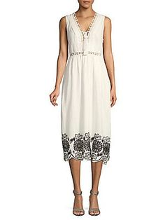ff6317a02b37 Max Studio - Sleeveless Cotton Dress