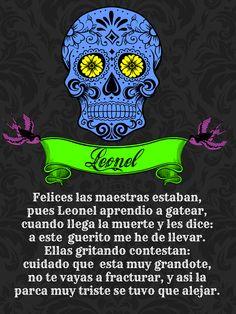 Calaverita literaria de Leonel Day of death Dia de muertos tradicion mexicana Calaverita infantil