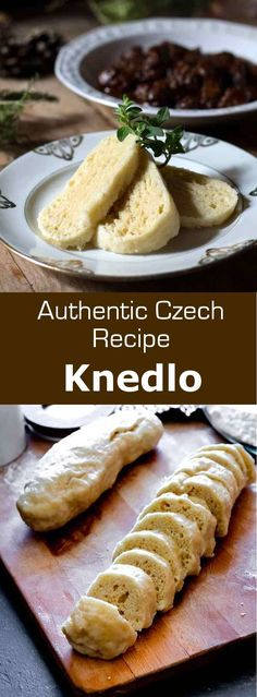 Czech Republic: Knedlíky Knedliky are simple boiled dumplings from the Czech Republic, that are served on the side of many traditional dishes, including goulash. Slovak Recipes, Czech Recipes, Ethnic Recipes, Czech Goulash, Sweet And Sour Cabbage, Prague Food, Eastern European Recipes, European Dishes, Beste Burger