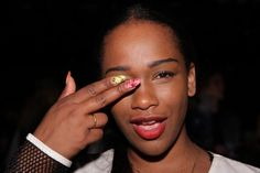 """Sharmadean Reid at our party for the launch of her book, """"The WAH Nails Book of Nail Art."""""""