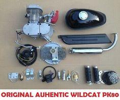 AUTHENTIC Wildcat™ PK80 Runwell 80cc/66cc Motorized Bike Kit Motor Engine   eBay Bicycle Engine, Motorised Bike, Bike Kit, Motor Engine, Motorized Bicycle, Engineering, Store, Ebay, Tent