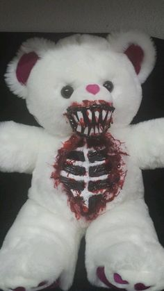 "Valentines Day Zombie Teddy Bear 20"" Zombie Baby Halloween Haunted House Prop in Collectibles, Holiday & Seasonal, Halloween 