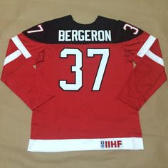 Canada Olympic 100th Anniversary Jersey 37 Patrice Bergeron Red