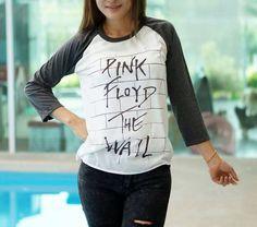 Pink Floyd  The Wall Rock band Baseball Jersey Tshirt 3/4 Long sleeve Raglan Tee Sweater Men women Unisex T-Shirt Size S M L by TankArtDesigns on Etsy https://www.etsy.com/listing/251256292/pink-floyd-the-wall-rock-band-baseball
