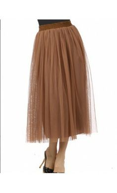 Brown A-Line Midi Tulle Skirts! - Apostolic Clothing #modest #clothing