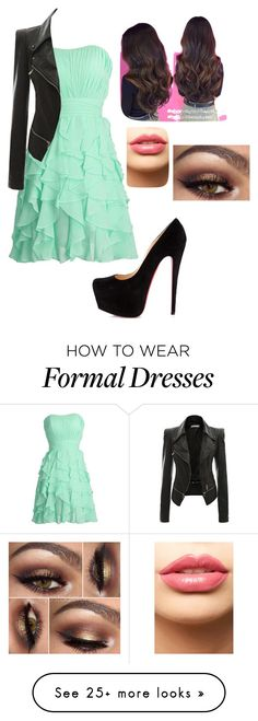 """""""formal with an edge"""" by gwen-black on Polyvore featuring Christian Louboutin, LASplash, women's clothing, women's fashion, women, female, woman, misses and juniors"""