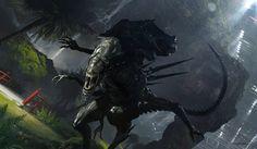 Alien 5, hunting by djahal
