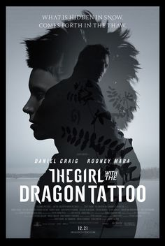 The Girl with the Dragon Tattoo movie poster.
