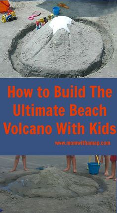 Are you looking for the ultimate beach activity for kids? Check out these very simple instructions for a beach volcano experiment. Kids Beach Activities, Beach Crafts For Kids, Beach Games, Beach Kids, Preschool Activities, Beach Vacation Tips, Beach Trip Packing, Summer Vacations, Beach Travel