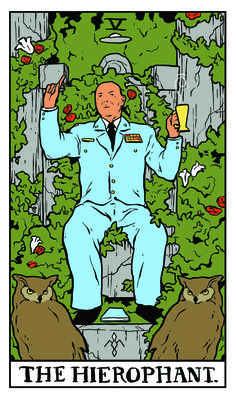 The Hierophant - Twin Peaks Tarot MAJOR GARLAND BRIGGS by Benjamin Mackey