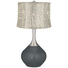 Black of Night Spiral Squiggles Shade Spencer Table Lamp - #7C429-X8930-8J618 | www.lampsplus.com