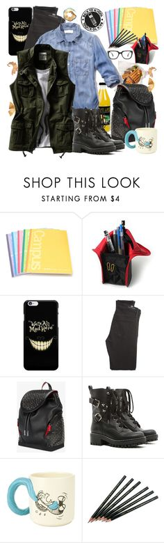 """""""back-to-school"""" by crisvalx-cv ❤ liked on Polyvore featuring Citizens of Humanity, Christian Louboutin and RED Valentino"""