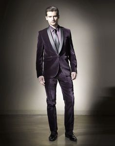 New Design Purple Velvet Wedding Tuxedos Groom Suits More Than 20 Choices Of Colors