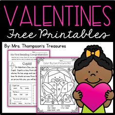Fun activities for Valentine's Day that are great skill practice!    ▪ Beginning reader comprehension    ▪ Color by coin picture