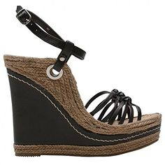 MIA Womens Biscotti Wedge SandalBlack85 M US >>> Click on the image for additional details.