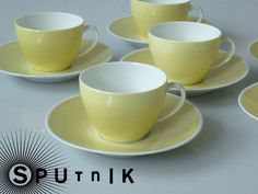Vintage Tassen - Süsse Mokkatasse von Melitta in Pastellgelb - ein Designerstück von sputnik_50er bei DaWanda