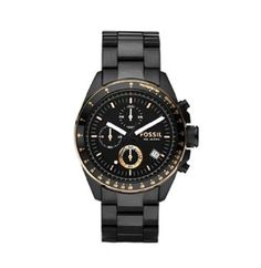 Amazon.com: Fossil Men's CH2619 Black Stainless Steel Bracelet Black Analog Dial Chronograph Watch: Fossil: Watches