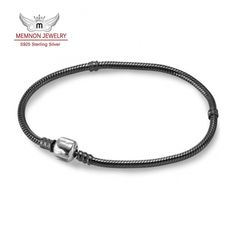 Fine Memnon Jewelry oxidized bracelets for women jewelry fit bead charms DIY with 925 sterling silver clasp bracelet YL002